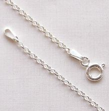 "Sterling Silver Chain 16"" (40cm) Mini Belcher"
